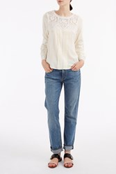 Sea Ny Women S Embroidered Lace Top Boutique1 Ivory
