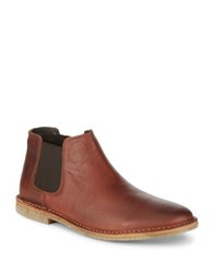 Kenneth Cole Reaction Slip On Leather Chelsea Boots Cognac