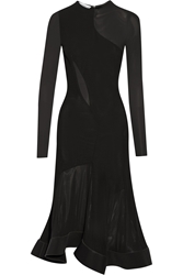 Esteban Cortazar Paneled Jersey And Stretch Knit Midi Dress