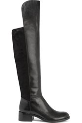 Marc By Marc Jacobs Leather And Faux Suede Over The Knee Boots Black