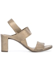 Roberto Del Carlo Block Heel Sandals Brown