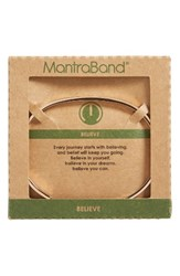 Mantraband Women's Believe Engraved Cuff Rose Gold