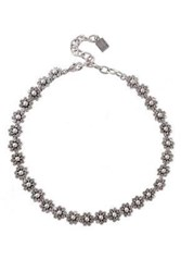 Dannijo Woman Silver And Gunmetal Tone Crystal Necklace Silver
