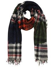 Faliero Sarti Max Prince Of Wales Cashmere Blend Scarf Multicolor