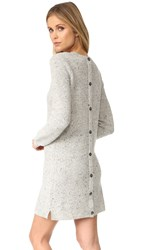 Madewell Donegal Button Back Sweater Dress Donegal Grey