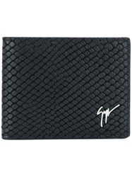 Giuseppe Zanotti Design Textured Billfold Wallet Black