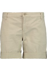 Tory Burch Cotton Blend Twill Shorts Nude