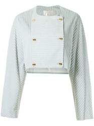 Lilly Sarti Button Up Coat Women Cotton 36 Grey