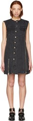 3.1 Phillip Lim Black Asymmetric Denim Dress