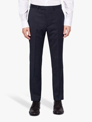 Ted Baker Timzon Wool Tailored Suit Trousers Navy