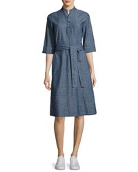 A.P.C. Oleson Cotton Shirtdress Indigo