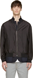 3.1 Phillip Lim Black Silk Layered Blazer And Bomber Jacket