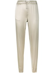 Fabiana Filippi Sheen Tapered Track Trousers Nude And Neutrals