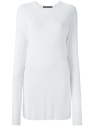 Haider Ackermann Ribbed Long Sleeve T Shirt White