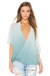 Young Fabulous And Broke H Wrap Top Teal