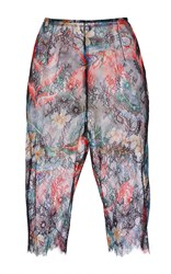 Philosophy Di Lorenzo Serafini Printed Lace Trousers