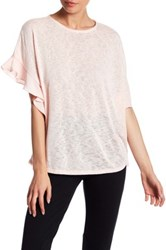 Gibson Ruffled Knit Tee Pink