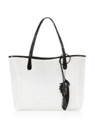 Nancy Gonzalez Erica Crocodile Tote White