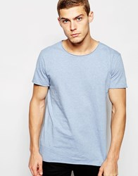 Junk De Luxe Raw Edge Organic T Shirt Blue