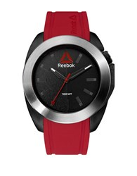 Reebok Drop Snatch Stainless Steel And Silicone Strap Watch Red