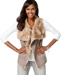 Inc International Concepts Faux Shearling Vest Mouse