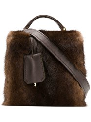 Natasha Zinko Mini Box Bag Brown