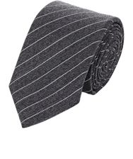 Ralph Lauren Black Label Striped Jacquard Necktie Grey