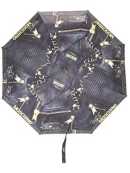 Moschino Biker Bag Print Umbrella Black