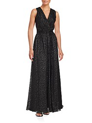 David Meister Sleeveless Floor Length Gown Black