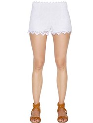 Charo Ruiz Scalloped Cotton Lace Shorts
