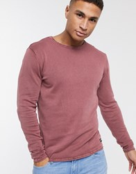 Only And Sons 100 Cotton Crew Neck Jumper Red