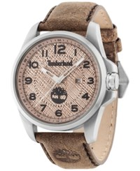 Timberland Men's Leyden Brown Leather Strap Watch 46X57mm Tbl14768js07