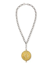 Hipchik Claudia Medallion Pendant Necklace Multi