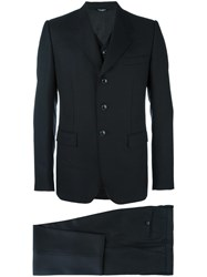 Dolce And Gabbana Formal Three Piece Suit Black