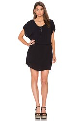 Splendid Crinkle Gauze Dress Black
