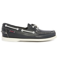 Sebago Docksides Navy Blue Suede Shoes