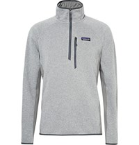 Patagonia Performance Better Polartec Power Stretch Jersey Panelled Sweater Gray