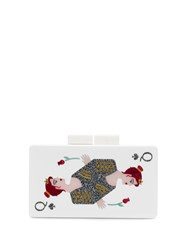 Rewind Vintage Affairs Playing Cards Clutch White