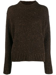 Joseph Speckled Knitted Jumper Brown