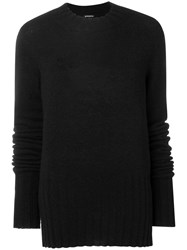 Ann Demeulemeester Loose Fitting Sweater Black