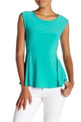 Cynthia Steffe Sleeveless Swing Blouse Green