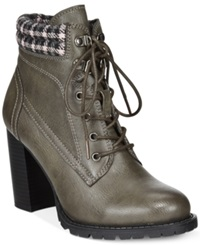 Dolce By Mojo Moxy Outfitter Lace Up Booties Women's Shoes