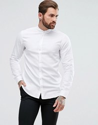 Boss Orange By Hugo Easy 1 Regular Fit Grandad Collar Oxford Shirt In White White