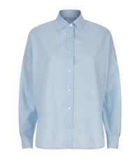 Vince Button Down Cotton Shirt Female Blue