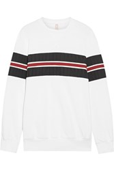 No Ka' Oi Ka'oi Nula Paneled Cotton Blend Sweatshirt White