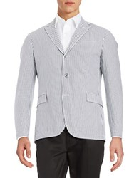 Brooks Brothers Striped Suit Jacket Black White