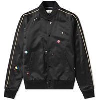 Saint Laurent Galaxy Silk Teddy Jacket Black