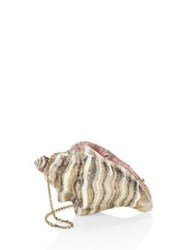 Judith Leiber Conch Shell Crystal Clutch Champagne