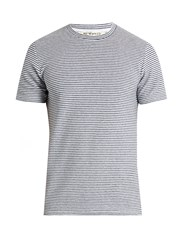 Etro Striped Terry Towelling T Shirt Navy Multi