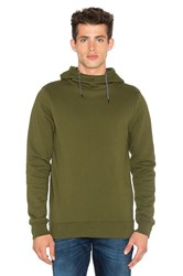Scotch And Soda Oversized Hooded Sweat Green